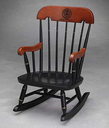 childs rocker with black lacquered finish