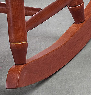 runner and tenon on child rocking chair